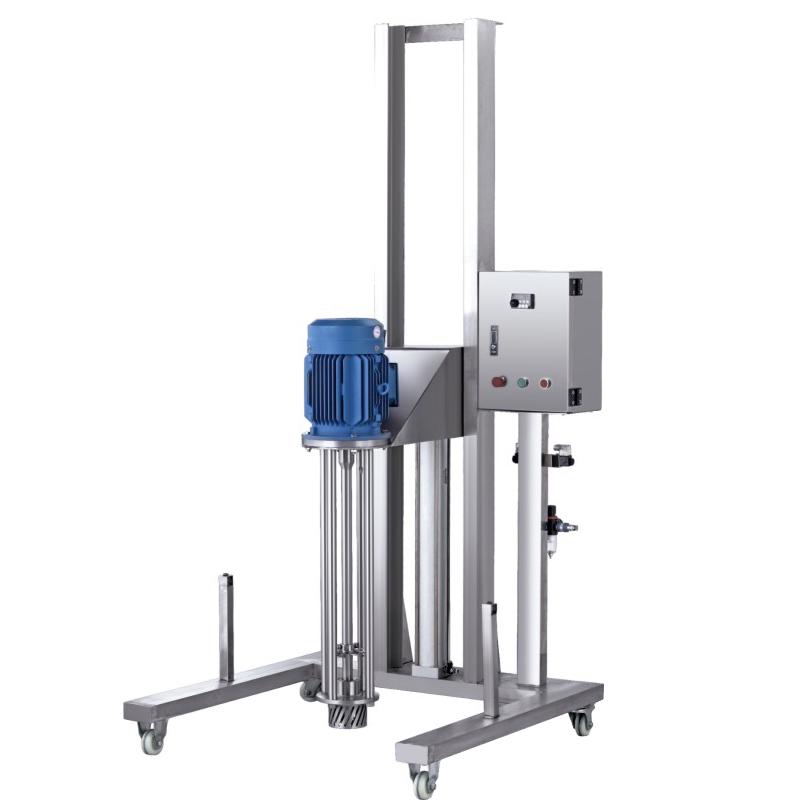 Moveable Pneumatic Lifting Homogenizer (Stainless Steel Bracket)