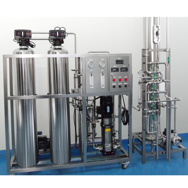 JRO One Stage Reverse Osmosis Water Treatment With Anion-Cation Mixing Bed(Full Stainless Steel)
