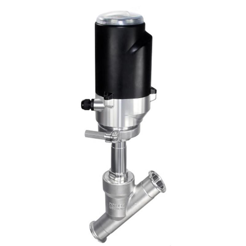 Sanitary angle seat valve