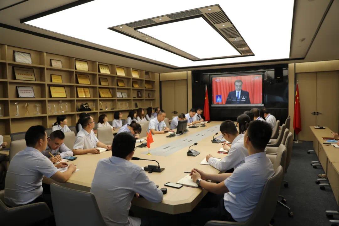 开元咨询党委组织收看十三届全国人大三次会议开幕式盛况