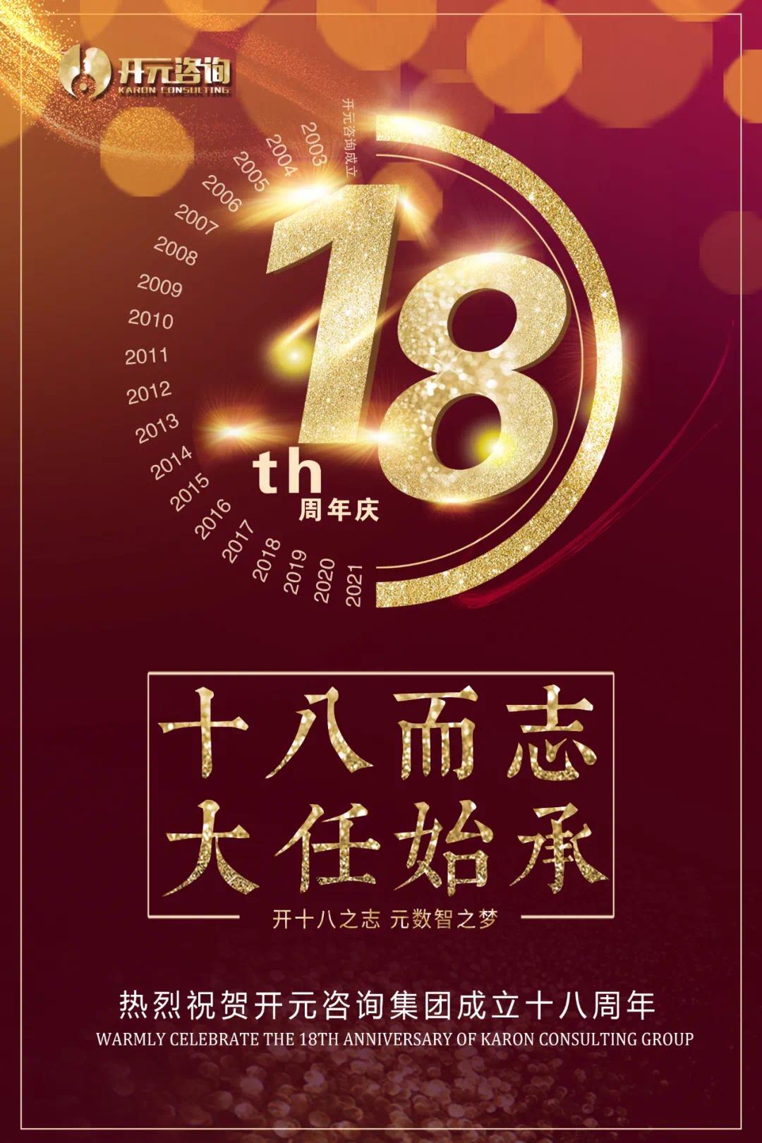 十八而志,大任始承丨祝贺开元咨询集团成立十八周年