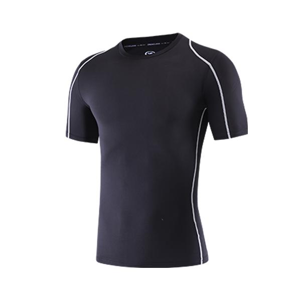 男紧身训练短袖T恤