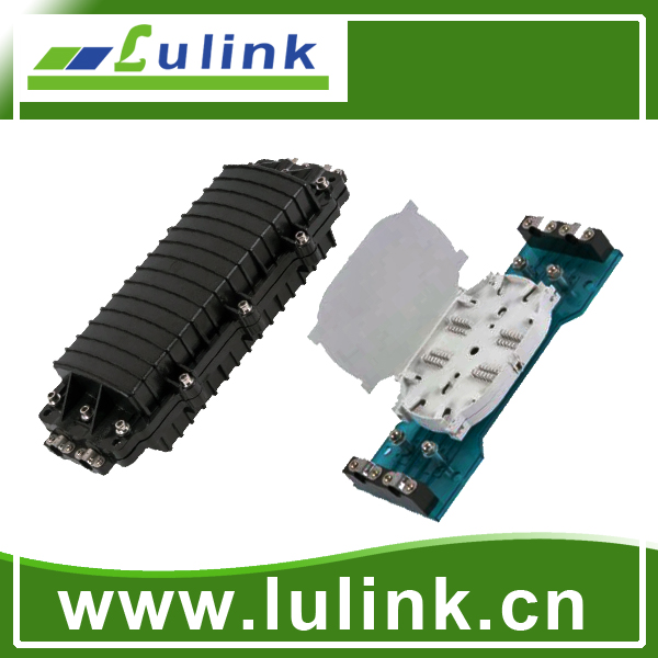 LK10P212-3  Horizontal type Fiber Optic Splice Closure with two inlets/outlets