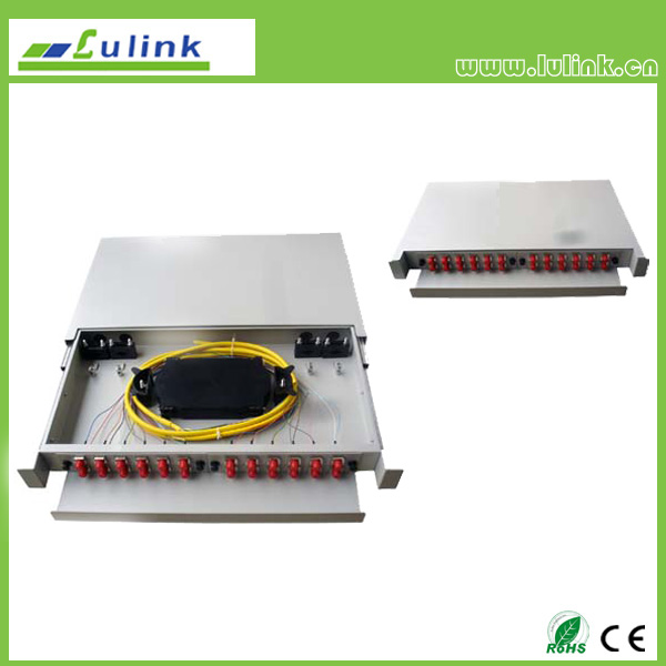 24 core fiber optic distribution frame