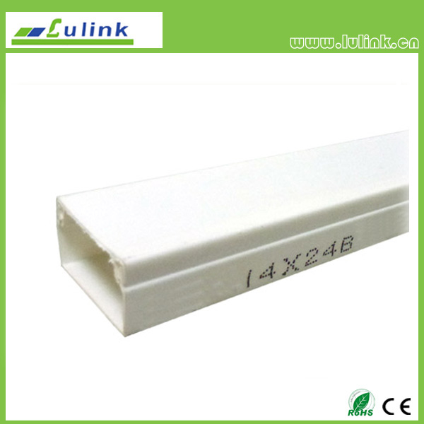 LK-PVCTK013.  PVC cable trunking   14*24B MM
