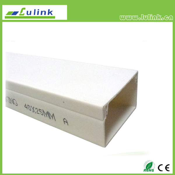 LK-PVCTK011.  PVC cable trunking   40*25 MM