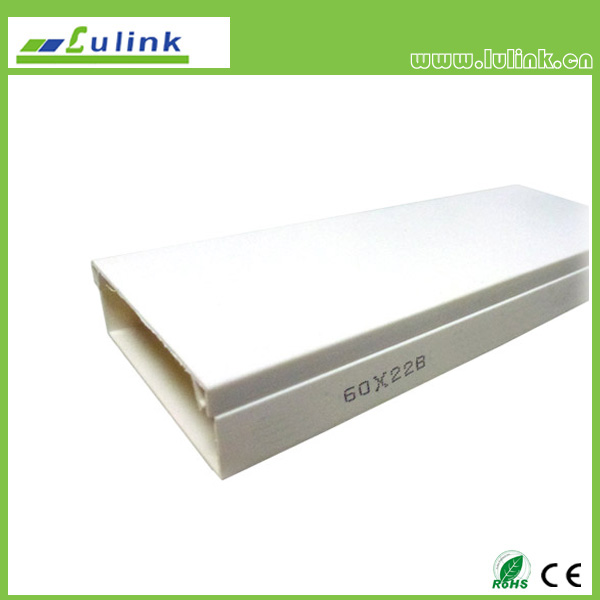 LK-PVCTK008.  PVC cable trunking   60*22 MM