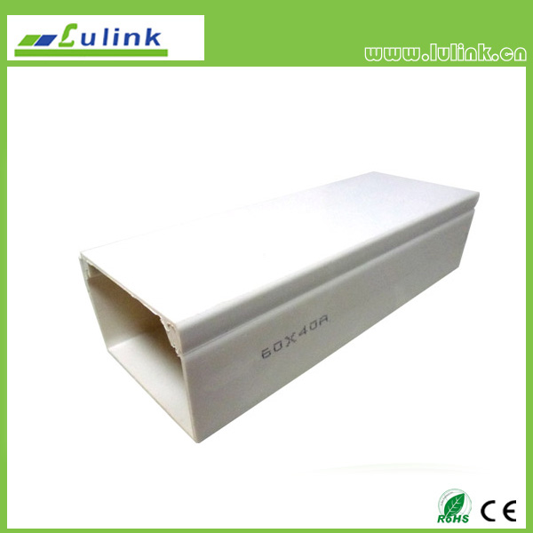 LK-PVCTK007.  PVC cable trunking   60*40 MM