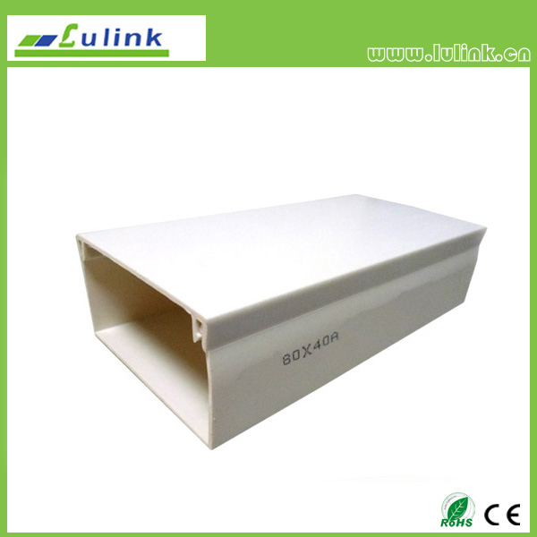 LK-PVCTK005.  PVC cable trunking   80*40A MM