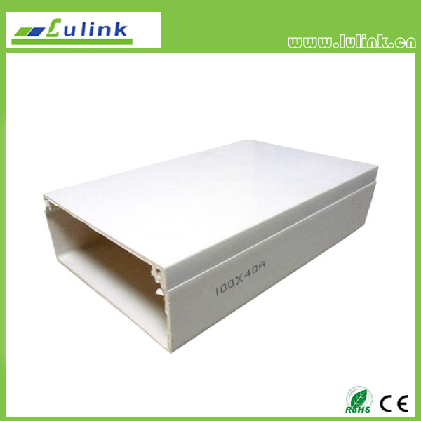 LK-PVCTK004.  PVC cable trunking   100*40MM