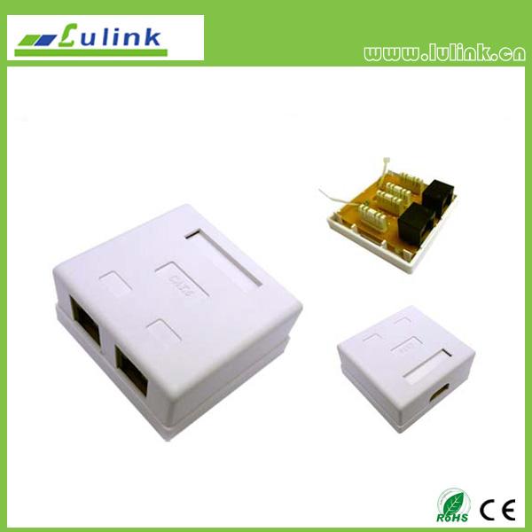 Cat6 UTP Double Port Surface Box