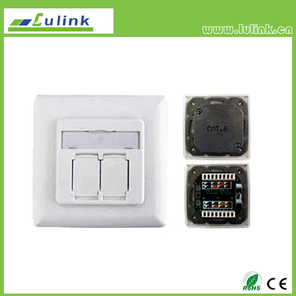 German Style Cat5e Shieled Integration Faceplate