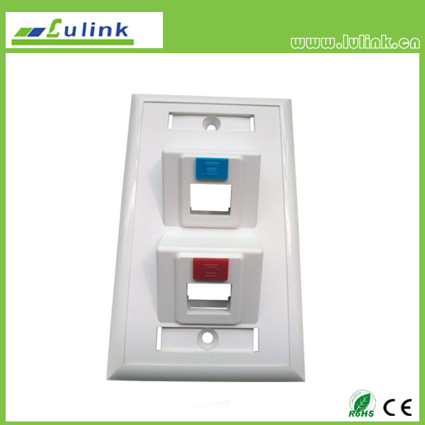 120 45 Degree Double Port Faceplate