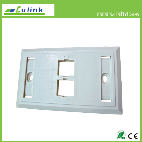 120 Double Port Faceplate
