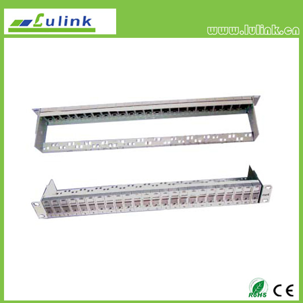 24 Port Blank Patch Panel (With 6A UTP Module)