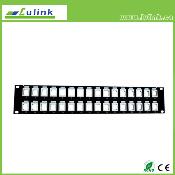 Blank Patch Panel 32 Port (Take with Cat5e&6 Module Jack)