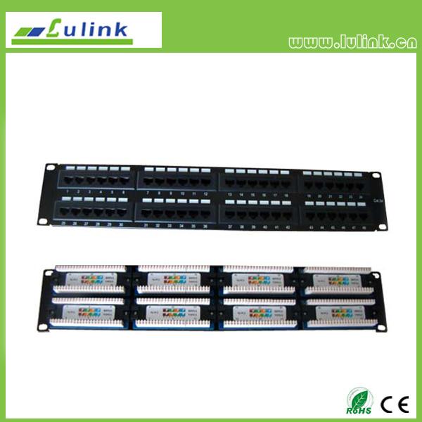 Cat5e UTP 48 PORT Patch Panel(Double USE End)
