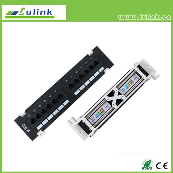 Cat6 UTP 12PORT Patch Panel(Double USE End)