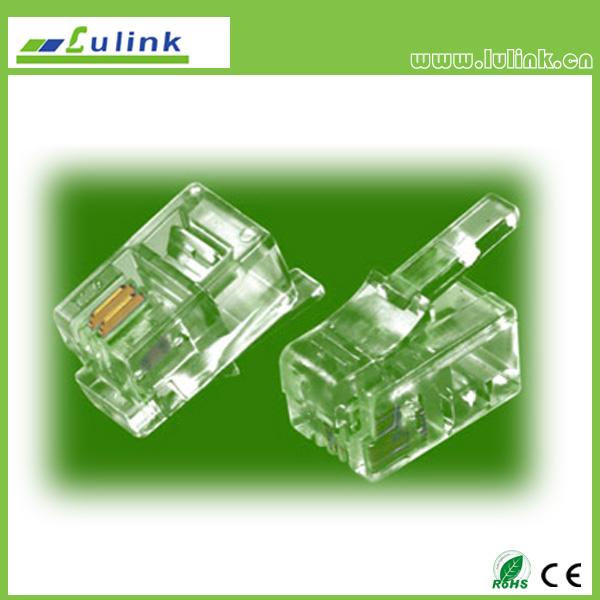 Cat3 UTP  RJ11 Plug 4P2C