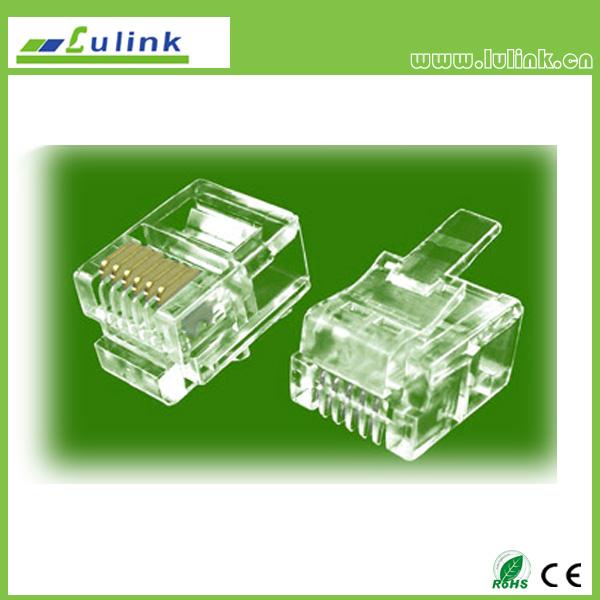 Cat3 UTP  RJ11 Plug 4P4C