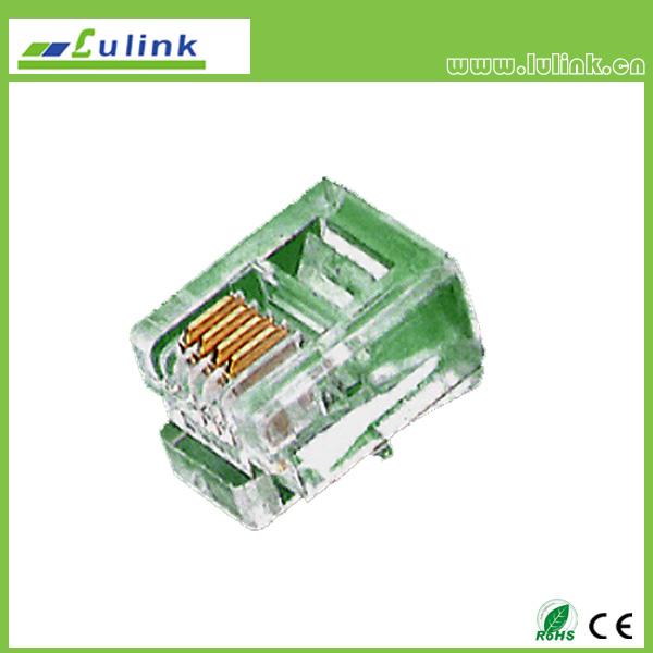 Cat3 UTP  RJ12 Plug 6P4C