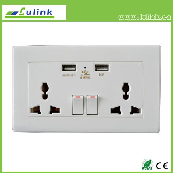 USB Intelligent Socket/USB outlet/USB wall plate