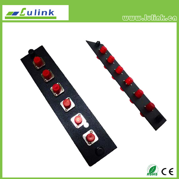 Fiber Optic Adapter Panel,FC type,6 ports,simplex,with SM adapter
