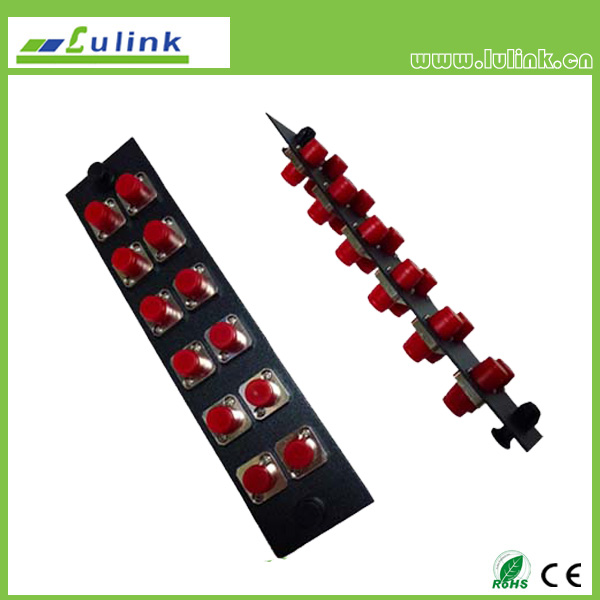 Fiber Optic Adapter Panel,FC type,12 ports,simplex,with SM adapter