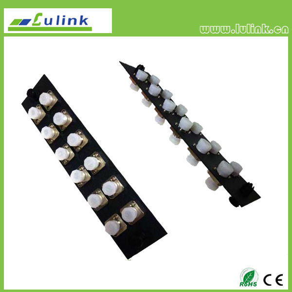 Fiber Optic Adapter Panel,FC type,12 ports,simplex,with MM adapter