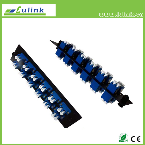 Fiber Optic Adapter Panel,LC type,12 ports,duplex,with SM adapter