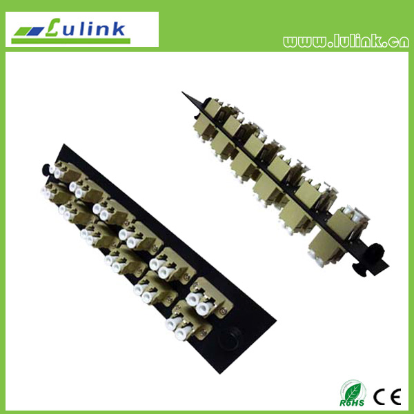 Fiber Optic Adapter Panel,LC type,12 ports,duplex,with MM adapter