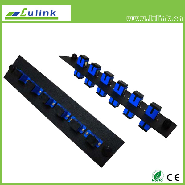 Fiber Optic Adapter Panel,SC type,6 ports, simplex,with SM adapter