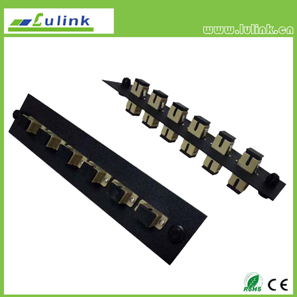 Fiber Optic Adapter Panel,SC type,6 ports, simplex,with MM adapter