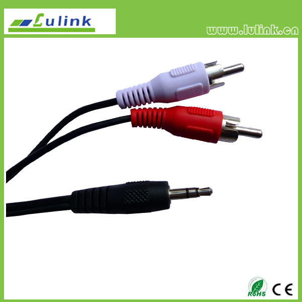 3.5mm  audio to 2RCA Male cable