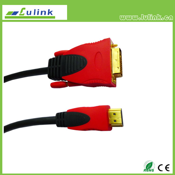 HDMI M to DVI 18+1/24+1 M Cable