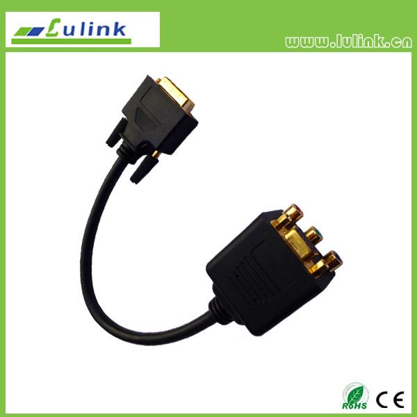 DVI24+5M/HD15F+3RCA F Cable