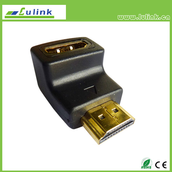 90° HDMI 19P Female to HDMI Male Adapter