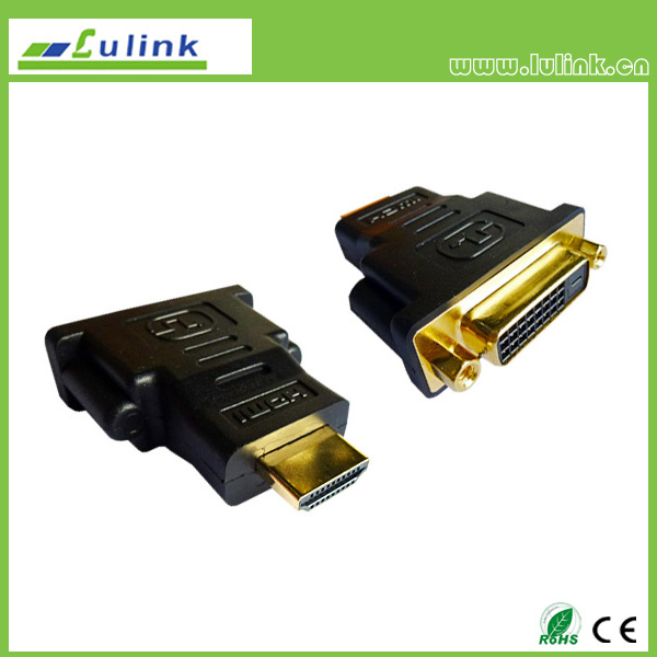 HDMI Male to  DVI 24+1 or 24+5 Female Adapter