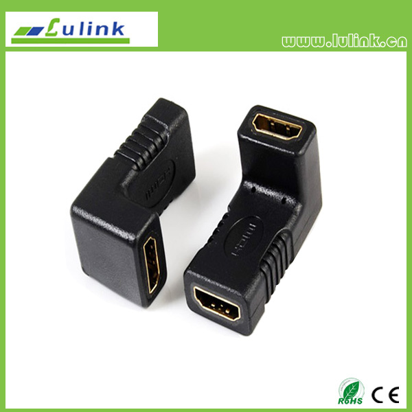 HDMI female to  HDMI Female Adapter,90°