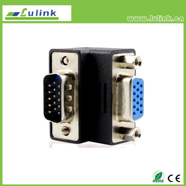 VGA MALE TO VGA FEMALE Adapter,90°