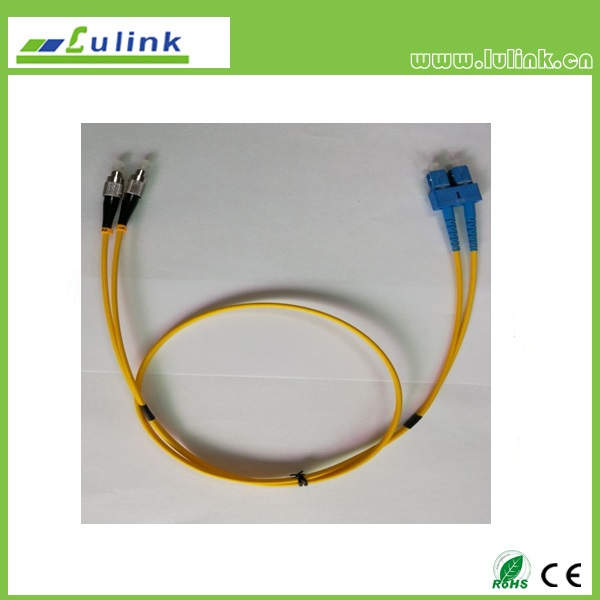 LK03SCFC102   SC/UPC-FC/UPC Duplex Fiber Optic Patch Cord