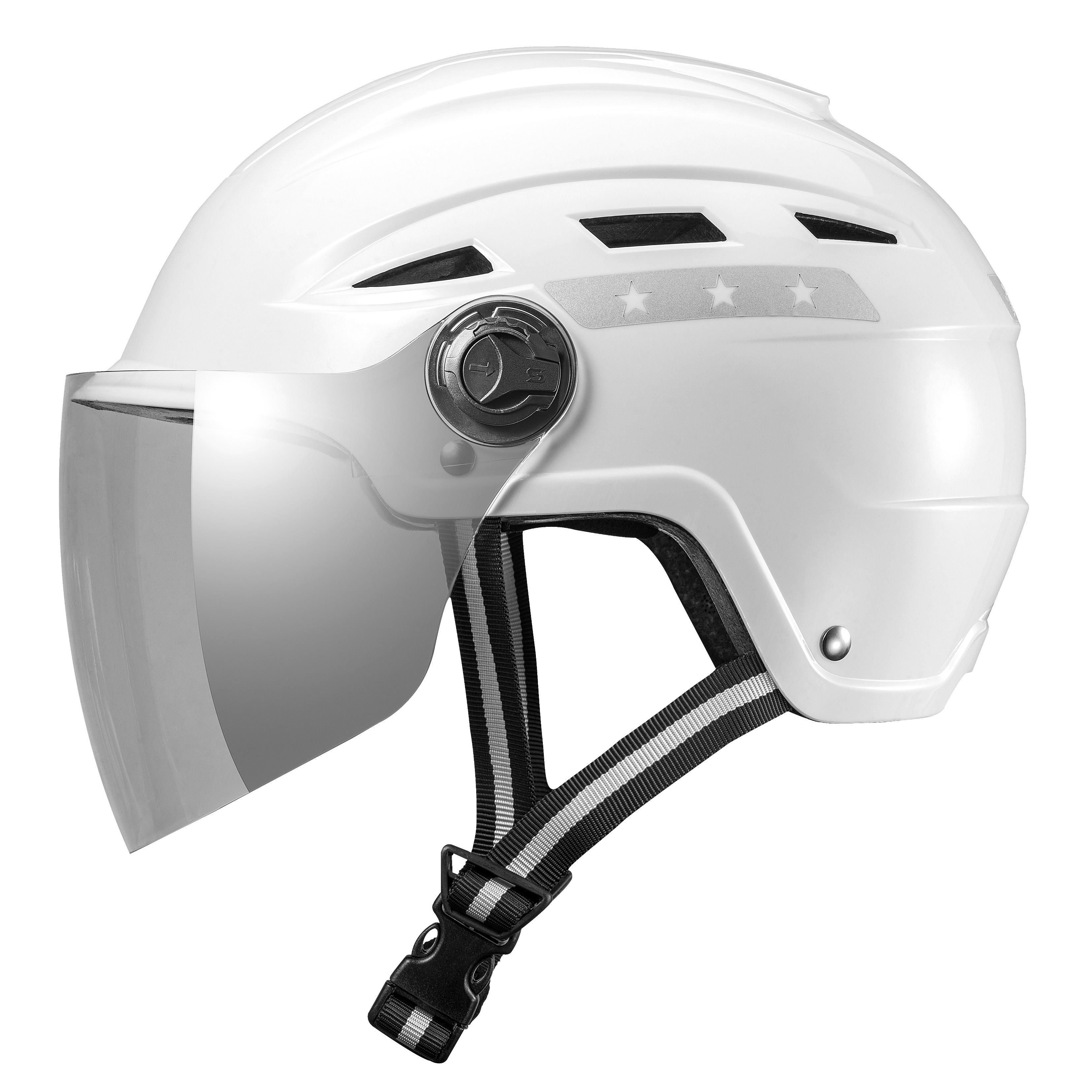 E1-8G E-Bike Helmet with goggles