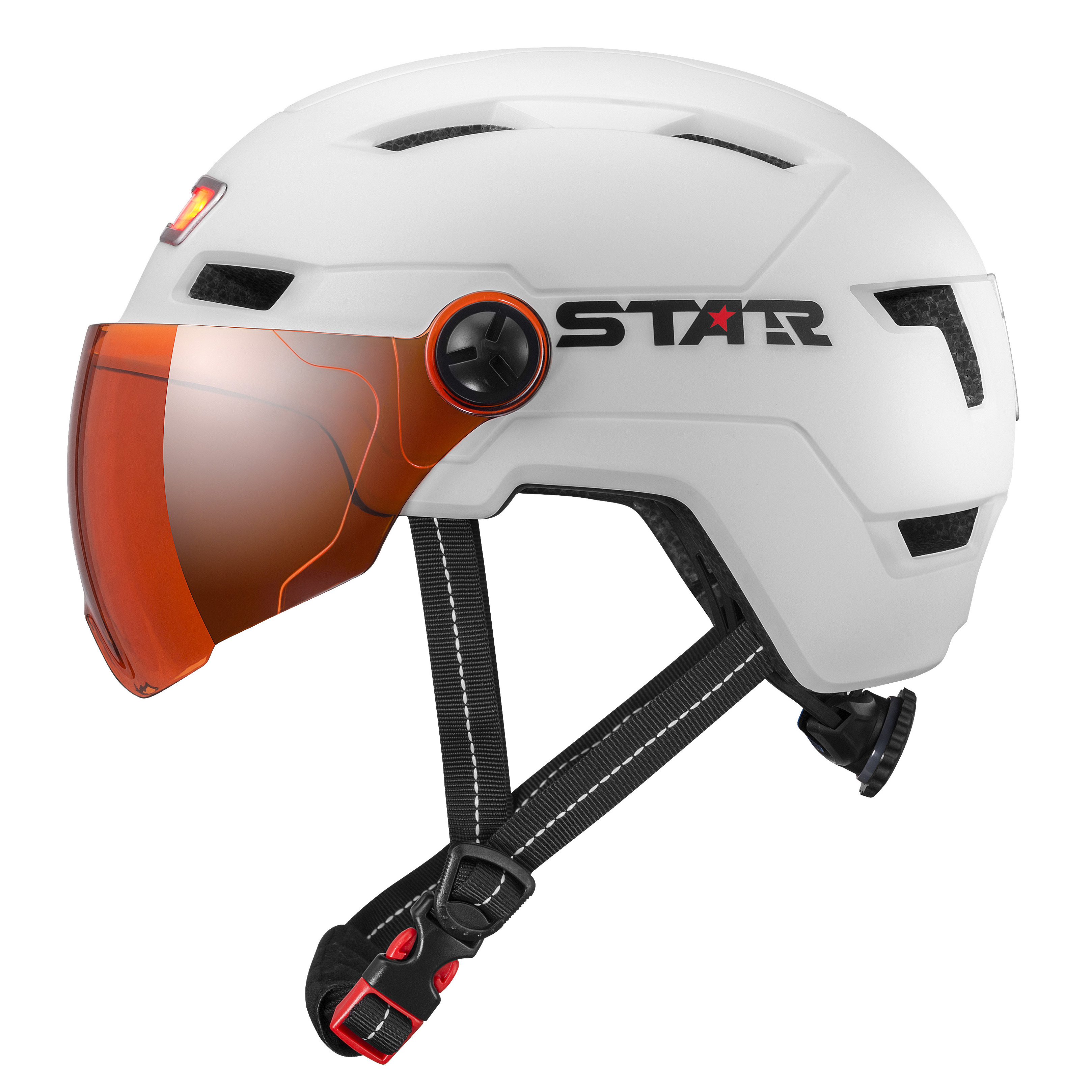 E3-10GL E-Bike Helmet with LED lights with goggles