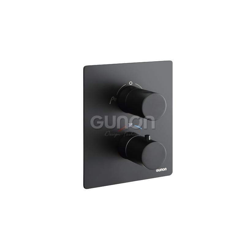 L-8879-1 恒温暗墙式两功能控制阀(黑色) (需配预埋盒L-8062-1)