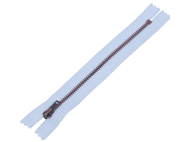 3# red bronze closed automatic head zipper