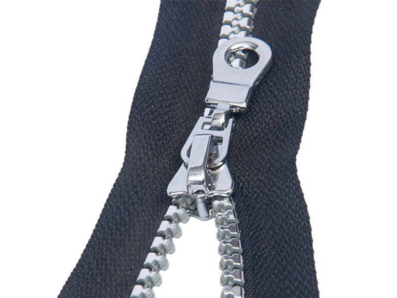 5# injection silver plated teeth zipper