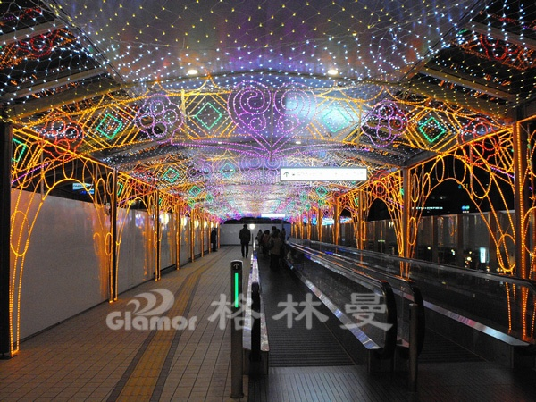 日本神户阪急百货天桥