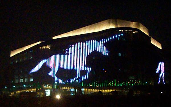 杭州动漫广场超大型LED视频墙工程 (2)