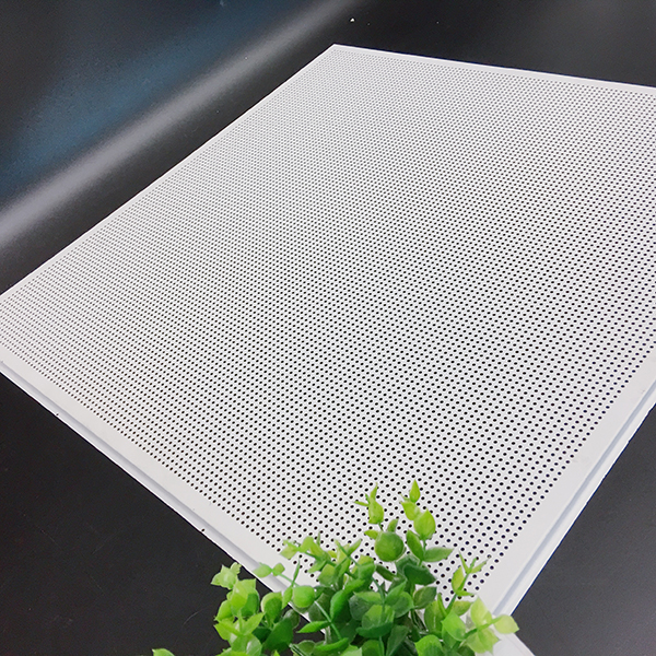 Flat punch color aluminum plate