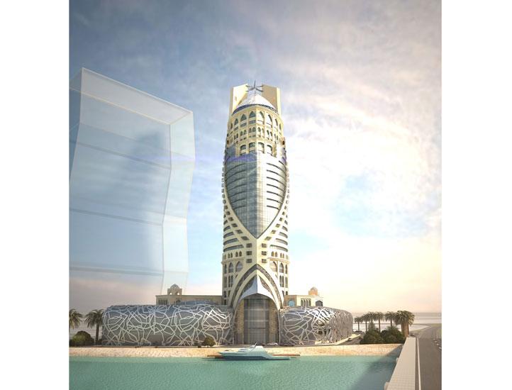 Doha Falcon Tower Bird Nest Styling Board